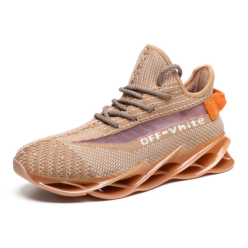 Новинка, мужские кроссовки для бега, бега, прогулок, спорта, высокое качество, на шнуровке, дышащие кроссовки - Цвет: G97Apricot