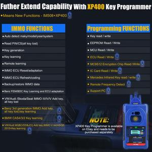 Image 4 - Autel أداة البرمجة الرئيسية IM508 & XP400 PRO ، ماسح ضوئي للتشخيص التلقائي ، بدون قيود IP ، PK IM608