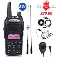 Reale 8W Baofeng UV 82 Walkie Talkie 10km uv 82 Two Way Radio UV82 VHF UHF Dual Band Ricetrasmettitore portatile di caccia CB Ham Radio