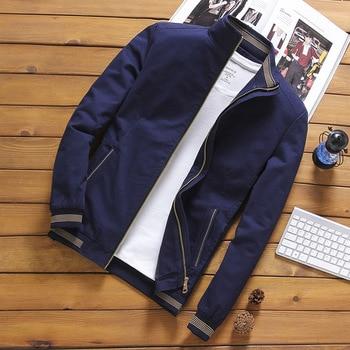 100% Cotton 2020 Spring Autumn Men's Bomber Jackets Casual Male Outwear Windbreaker Stand Collar Jacket Mens Baseball Slim Coats