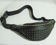 цена на Womens Fanny Pack Shiny Leather Pouch Belt Waist Bum Bag Waist Phone Portable Shiny PU Leather Belt Waist Bum Bag Waist Phone