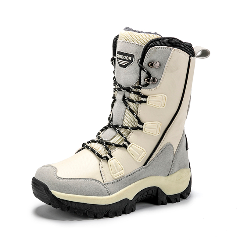 Women's Warm Winter Boots Antiskid Keep Warm Plush Snowboarding Shoes Female High Quality Ankle Black Beige Boots