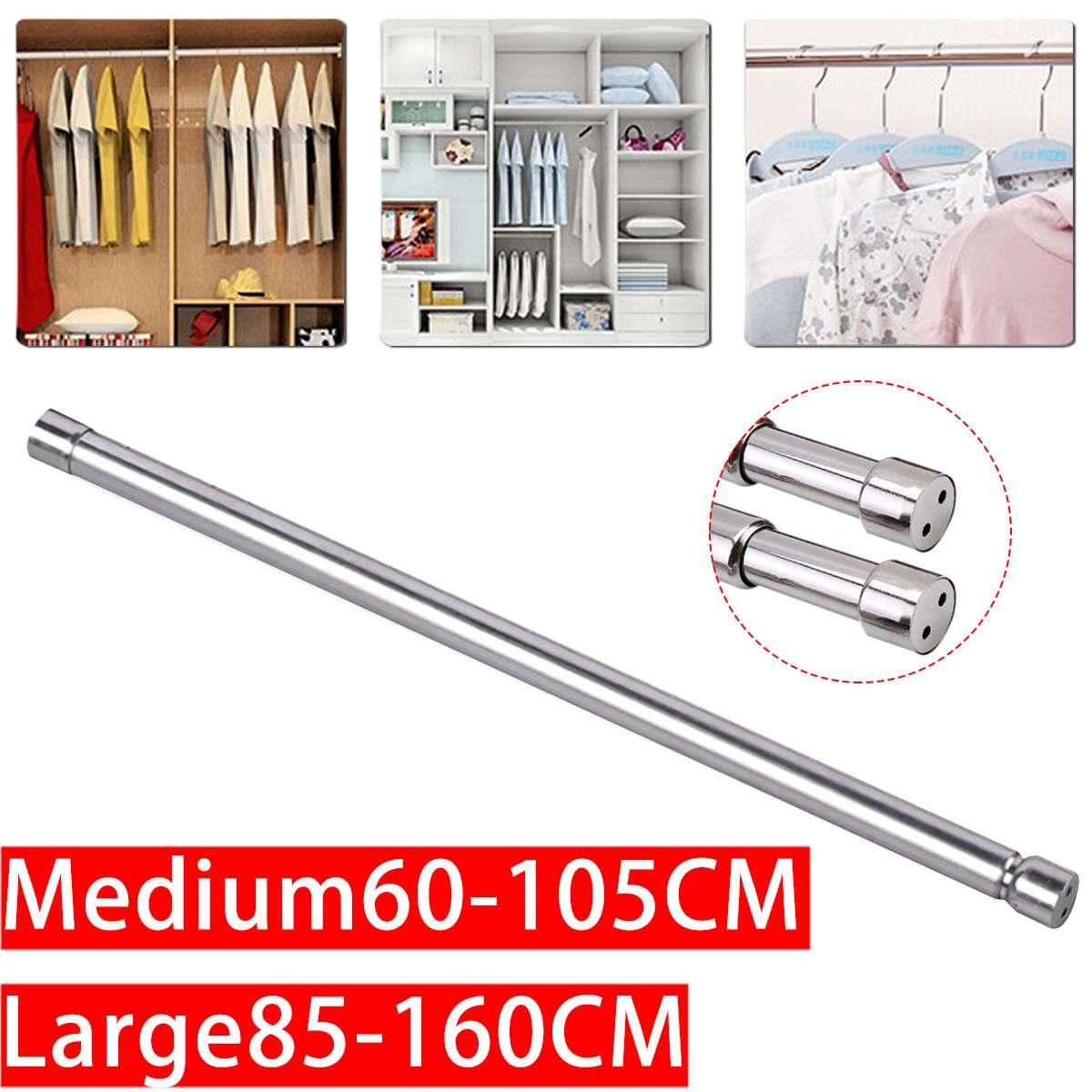 Telescopic Tension Extendable Curtain Window Shower Hanger Closet Hang Rod Safe