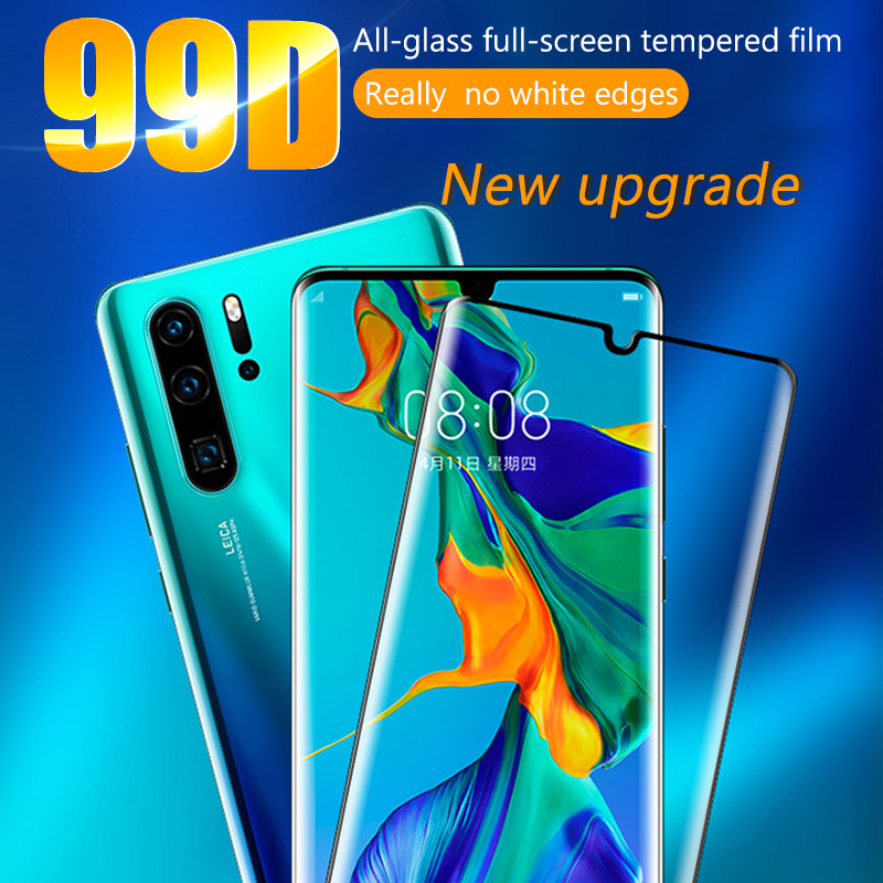 Image 2 - 99D Full Cover Screen Protector For Huawei Y6 Y5 Y7 Pro Y9 Prime 2019 Tempered Glass For Huawei P smart 2019 Glass Protective HDPhone Screen Protectors   -