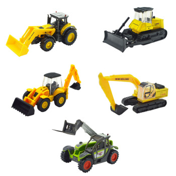 Bulldozer Model 1/87 Alloy Truck Construction Excavator Loader Car For Kids Hobby Toys