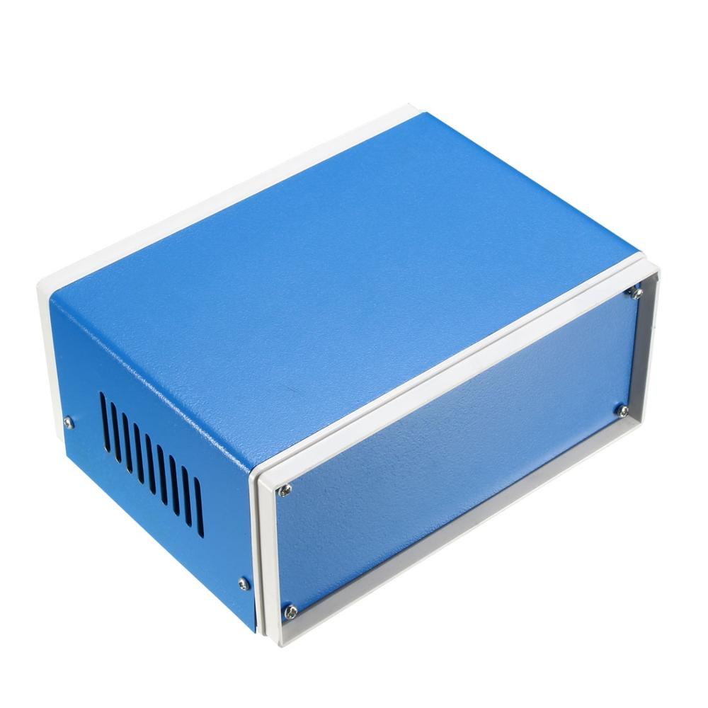 Uxcell 1pcs 180x130x110mm 210x180x140mm Metal Blue Project Junction Box Enclosure Case Outdoor Indoor Electronics Enclosure Box
