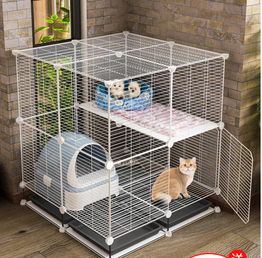 Thickened Encrypted Cat Cage Full Partition Does Not Hurt Feet Cat Villa Indoor Cat House Pull Tug Household Super Large Free Cat Crates Cages Aliexpress