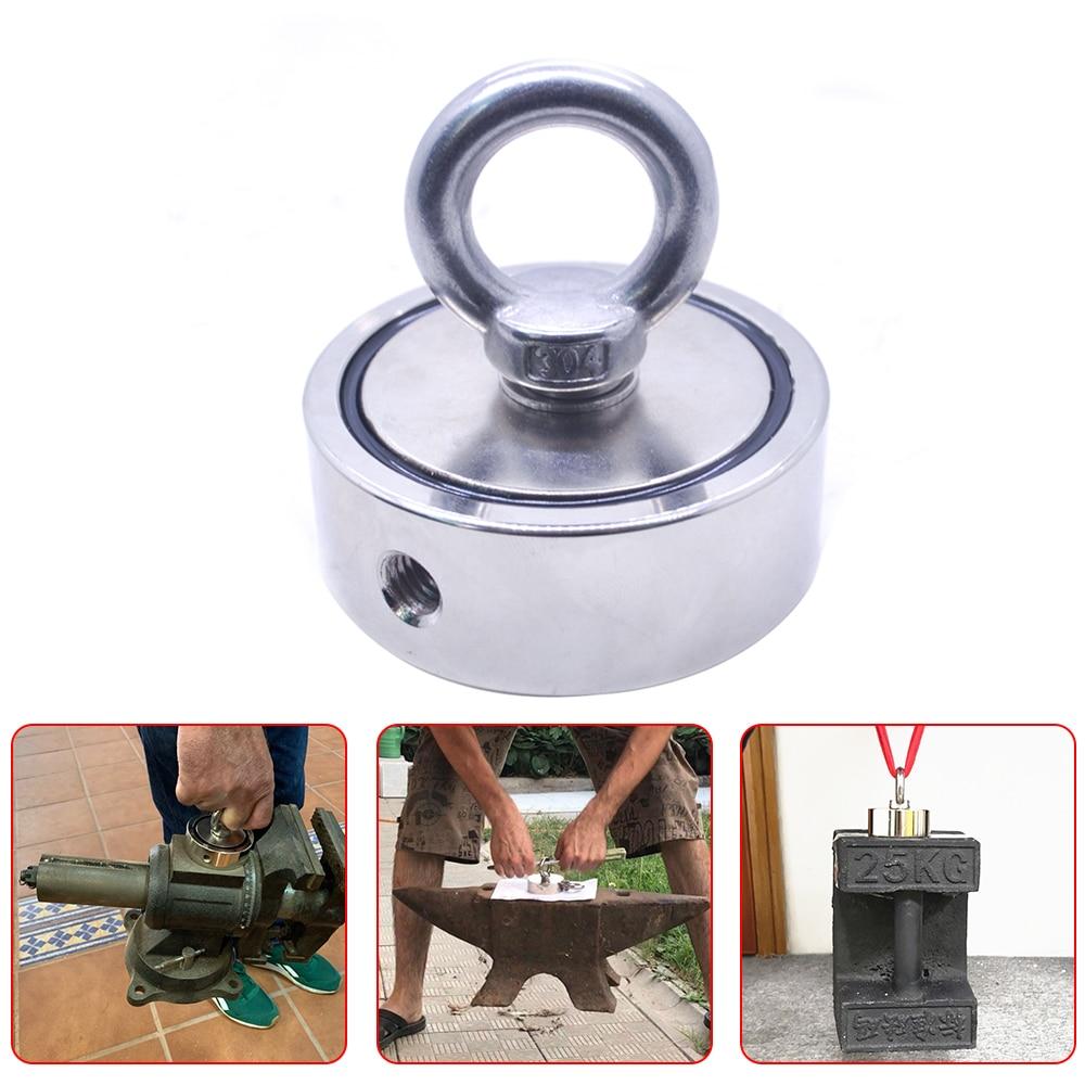 Сильный неодимовый магнит, двусторонний, для поиска крючка, сверхмощный, для рыбалки, магнитная, максимальный вес 300 кг