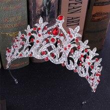 Luxurious  Crystal  Princess Diadem Women Wedding Tiara Crown Bride Headpiece Palace  Headwear Headdres Hair Jewelry Bijoux