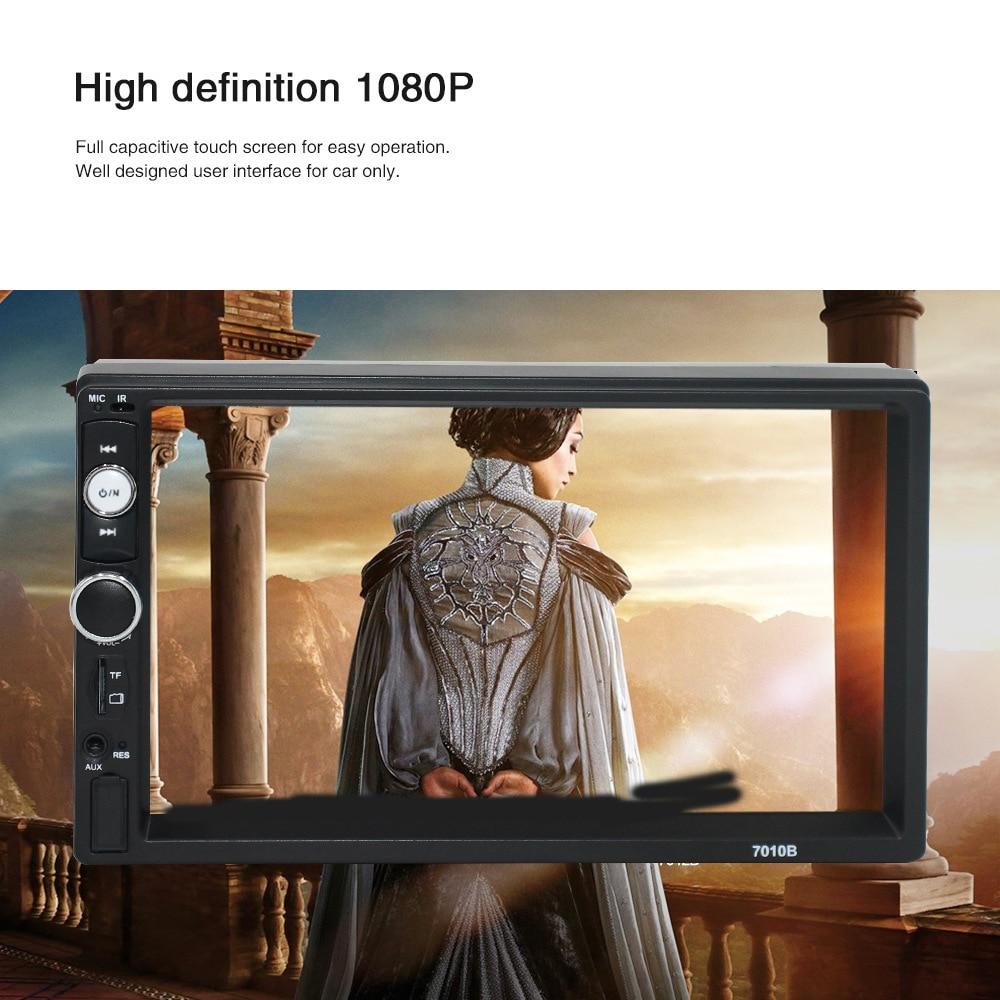 7 pouces 720P autoradio miroir HD Double Din voiture MP5 lecteur FM Radio USB AUX télécommande caméra de recul lecteur multimédia