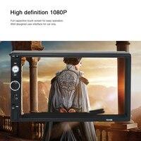 7inch 720P Car Radio Mirror HD Double Din Car MP5 Player FM Radio USB AUX Remote Control Rearview Camera Multimedia Player