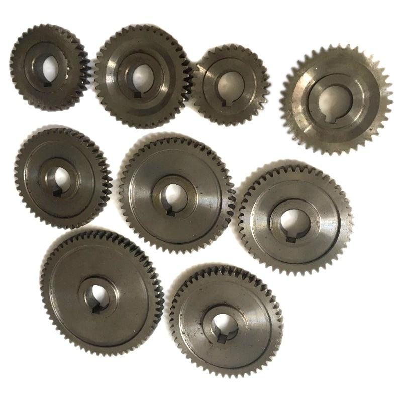 9Pcs/Set CJ0618 Household Small Lathe, Micro Lathe Gear, Metal Exchange Gear