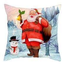 Nanacoba Рождественская подушка крышка Санта Клаус Подушка Чехол