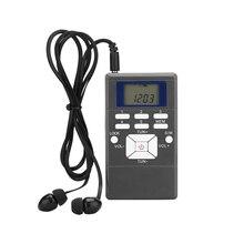 Ana taşınabilir Mini dijital FM kısa dalga radyo alıcısı dijital frekans modülasyonu taşınabilir LED ekran ince radyo cep