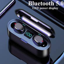 F9 Bluetooth наушники стерео Беспроводная гарнитура HIFI Звук спортивные наушники Hands-free игровая гарнитура с микрофоном для iphone