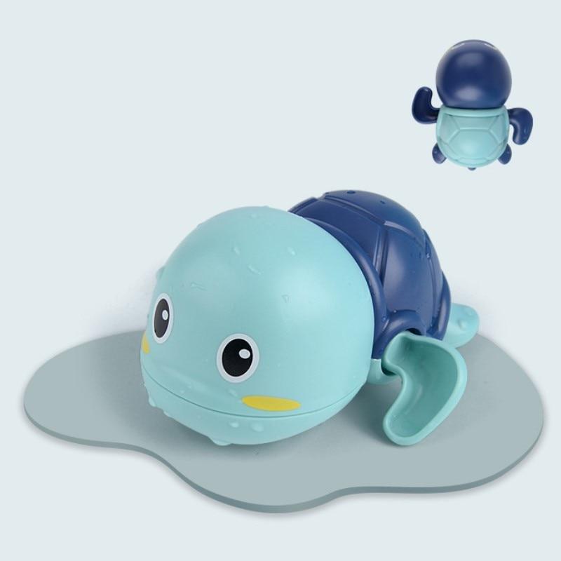 Baby Bath Toys Zabawki Do Kapieli  ABS  Wind Up  Tortoise Style  Beach Bathroom Swiming Pool Play Water kids Toddler Toys 2