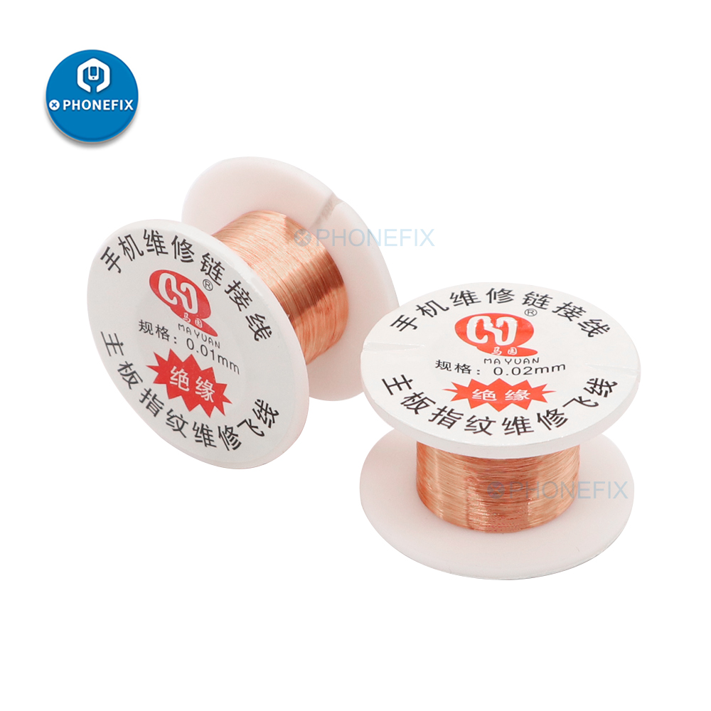 0,01 мм, 0,02 мм, изолированная медная звеньевая проволока, стандартная перемычка для детской, инструменты для ремонта