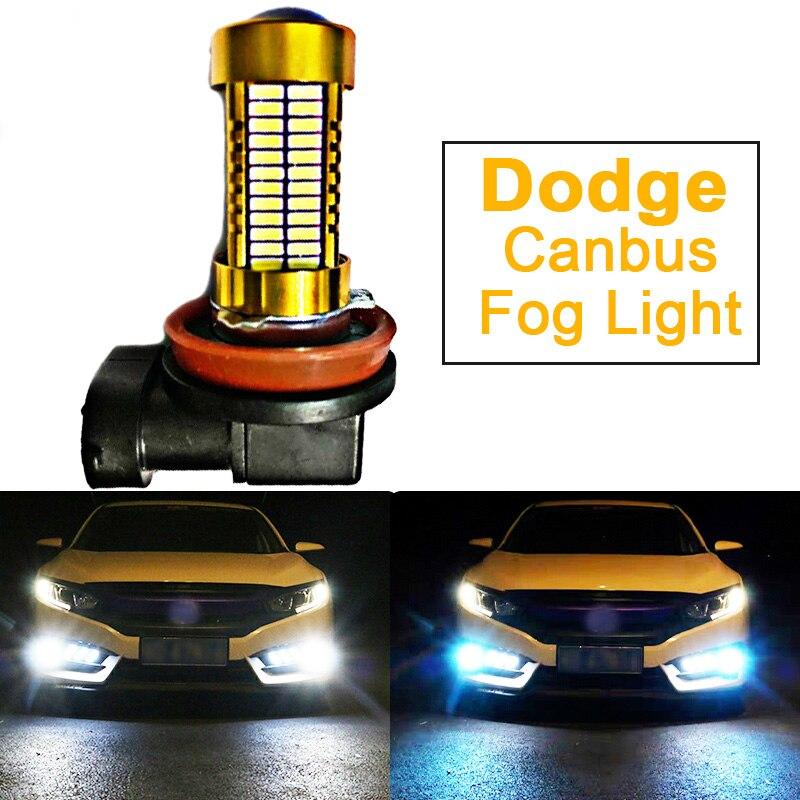 1 Uds coche luces LED lámpara de bulbo H8 H11 H10 9145 9006 HB4 PSX24W 2504 Dodge Charger y Challenger dardo Durango gran viaje Viper