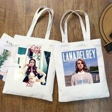 Lana Del Rey LOGO Grafica Stampata Pantaloni A Vita Bassa Del Fumetto di Stampa Borse per la Spesa di Modo Delle Ragazze Casual Pacakge Sacchetto di Mano