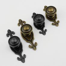 Retro Antique Black/ Bronze Door Handle Backpate Cupboard Pulls Dresser Kitchen Cabinet Furniture Hardware