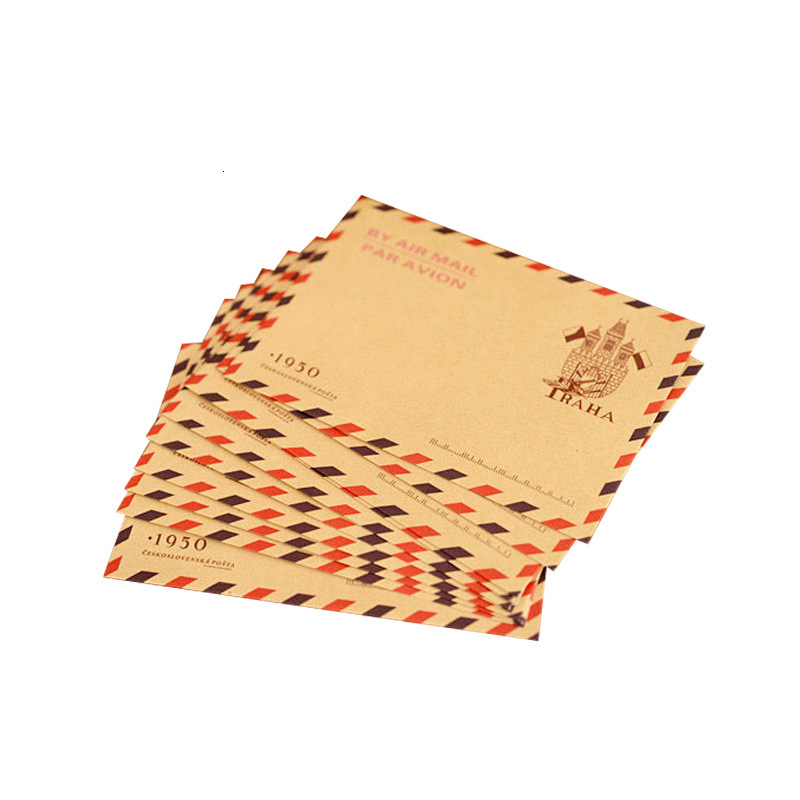 Iron Tower Postmark Envelope Kraft Paper Large Number Envelope Suit 4 Paragraph Optional 10 Mei Zhuang