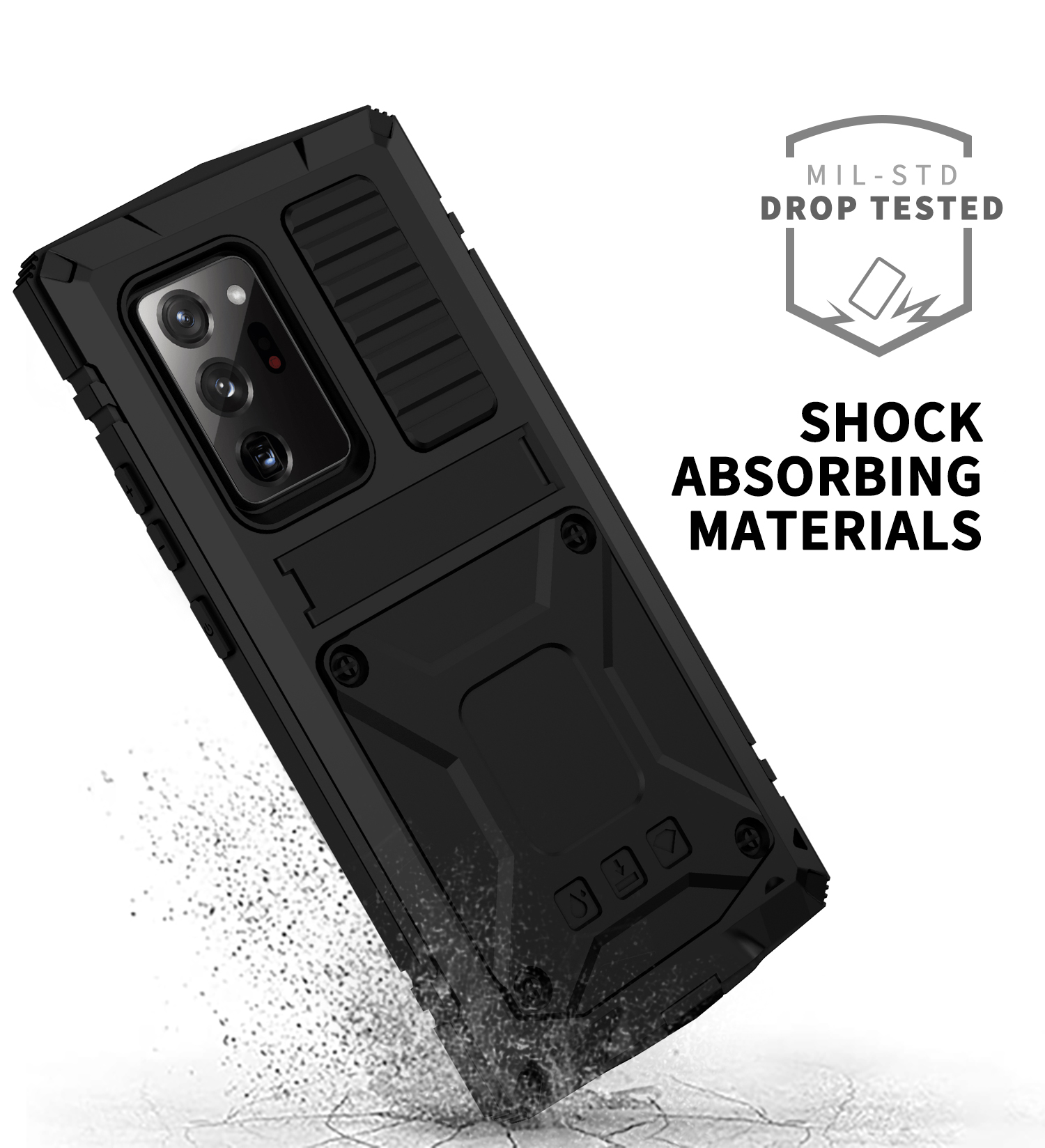 With Bracket+Full Protective For Samsung S21 Plus Ultra A52 A72 Note 20 Ultra 5G Case Kickstand Dual Layer Protective Shockproof 3