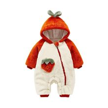 Winter Baby Overalls Romper Hooded Infant Jumpsuit Kids Cotton Autumn
