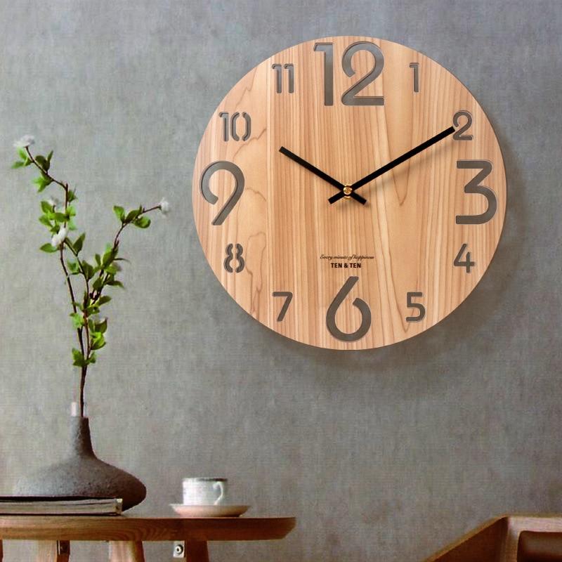 Scopri tutti gli orologi da parete moderni realizzati artigianalmente da arti e mestieri. Orologio Da Parete In Legno 3d Design Moderno Nordic Breve Soggiorno Decorazione Orologio Da Cucina Art Hollow Orologio Da Parete Decorazioni Per La Casa 12 Pollici Wall Clocks Aliexpress