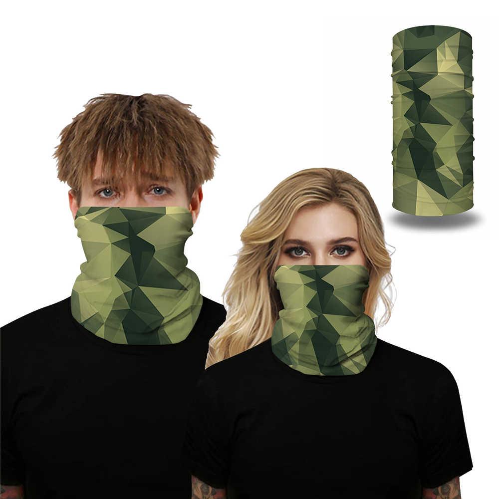 Camouflage turbante viso sciarpa al collo leggings fascia equitazione bicicletta pesca balaclava cappello sciarpa multifunzionale all'aperto copricapo