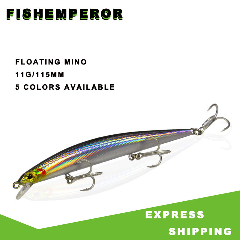 1pcs Fishing Lures 11.5cm/11g Floating Minnow Lure With Bead Hard Bait Crankbait Wobbler Fishing Tackle Leurre Peche For Pike