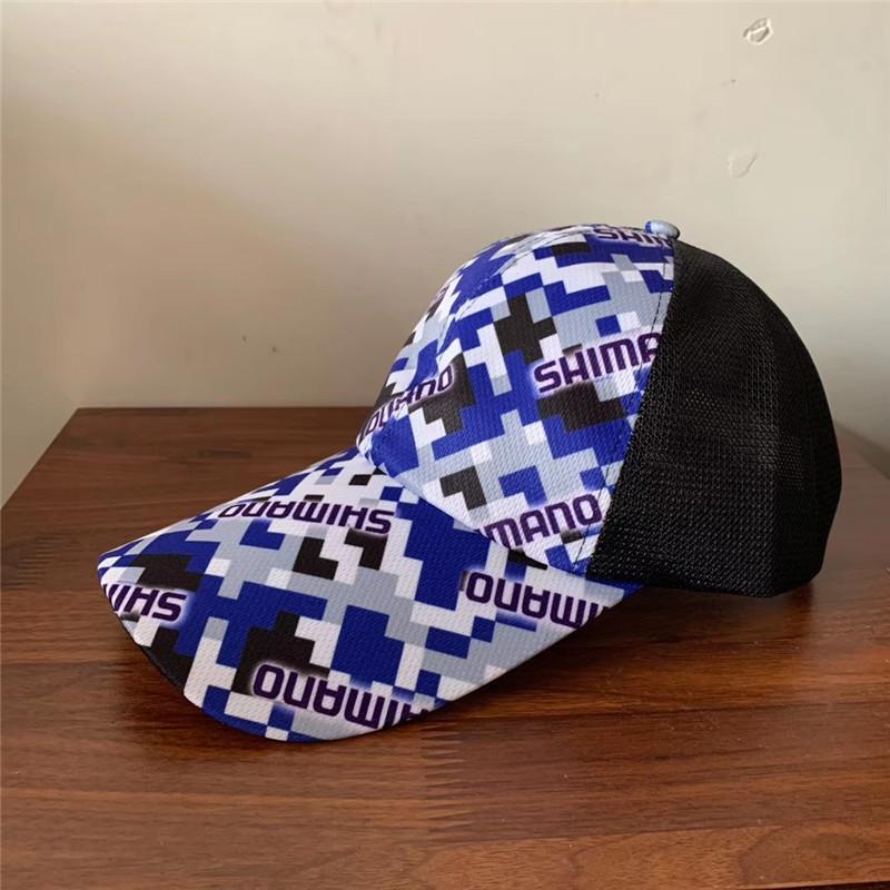 shimano blue urban camo fishing cap