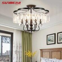 цены Modern Crystal Ceiling Lights Bedroom Lighting Fixtures For Living room Dining Kitchen Ceiling Lamp Vintage Gold plafonnier led