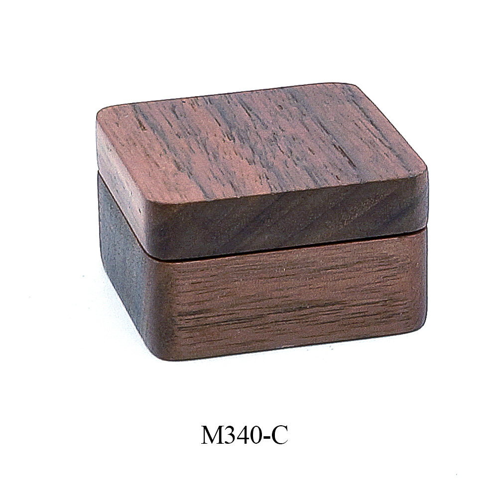 Wooden Boutique Cufflinks Boxs Men's Environmental Protection Solid Wood Single Magnetic Suction Cover Gifts Box Classic Trendy