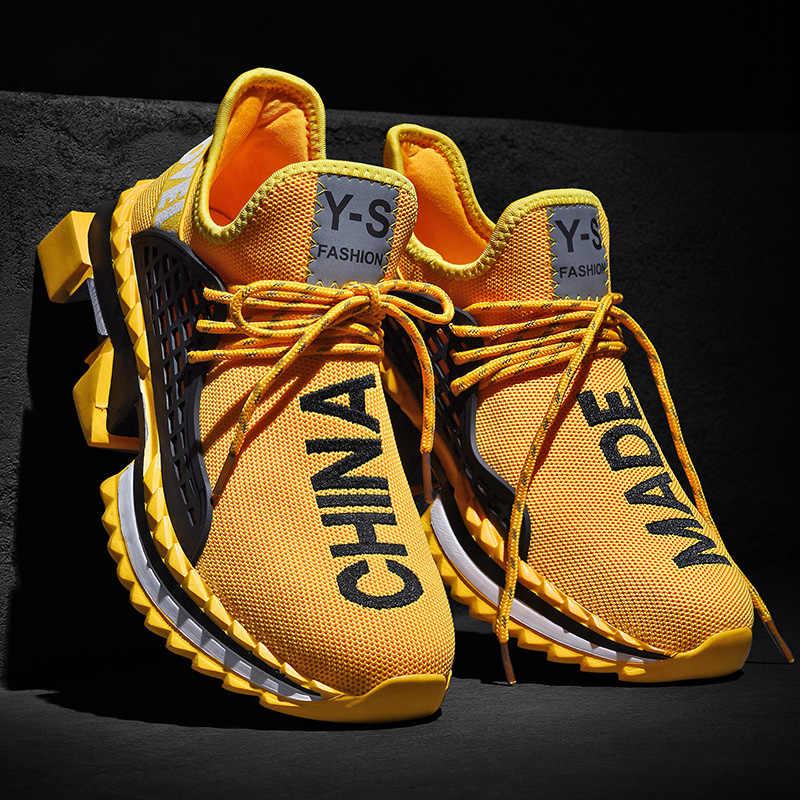 Mode Ins mannen Schoenen Herfst Ademend Merk Sneakers Mannen Sport Trainers Mannelijke Schoeisel Plus Big size 47 Zapatos De hombre