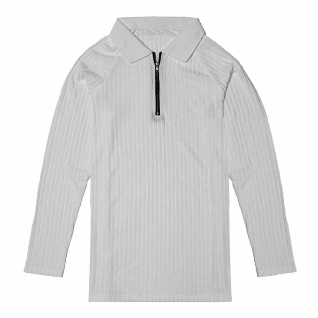 2020 男性のファッション Soprt ボタンストレッチタイト Tシャツストレッチ長袖シャツ快適なレジャーの男性 Tシャツカジュアルウェア