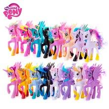 Original My Little Pony 14cm Cartoon Rainbow Unicorn Pony Fluttershy Sparkle Rarit Anime Action Figure Model Children Xmas Gift my little pony фигурка fluttershy