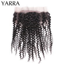 Remy-Hair Lace-Frontal-Closure 100%Human-Hair Brazilian Swiss Yarra 360 Curly Kinky Pre-Plucked