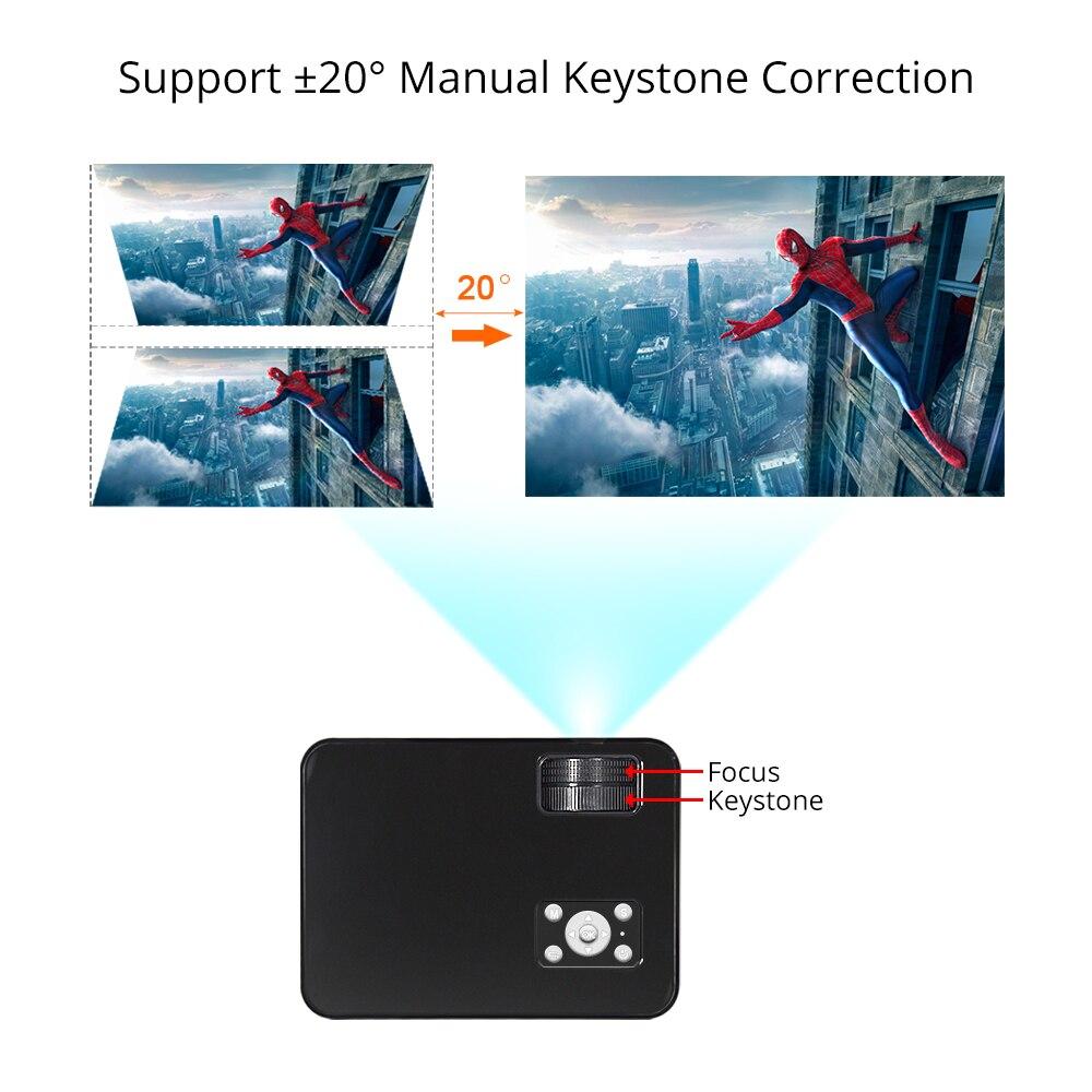 Everycom M8 mini Projetor 720P Apoio Max 1080P Beamer AC3 Áudio Android 6.0 Bluetooth Wi-fi De Vídeo LEVOU 4000 Lumens Home Theater,Este é um código de desconto 50 menos 7: DISC7-3