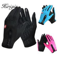 Ekran dotykowy wiatroszczelne rękawice sportowe na zewnątrz dla mężczyzn kobiety armia guantes tacticos luva zimowe wodoodporne rękawiczki windstopper tanie tanio Unisex COTTON Dla dorosłych Stałe Nadgarstek Nowość