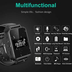Digital Voice Recorders Mini Wrist Watch Wristband Business HD Audio Recording Dictaphone MP3 Long Battery Life Sound Record