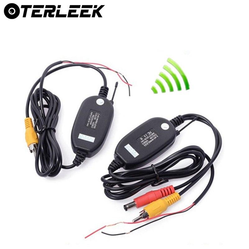 Caméra de vue arrière pour voiture   Installation facile, Kit de câblage sans fil Wifi 2.4GHz DC 12V caméras de véhicule transmetteur/récepteur sans fil