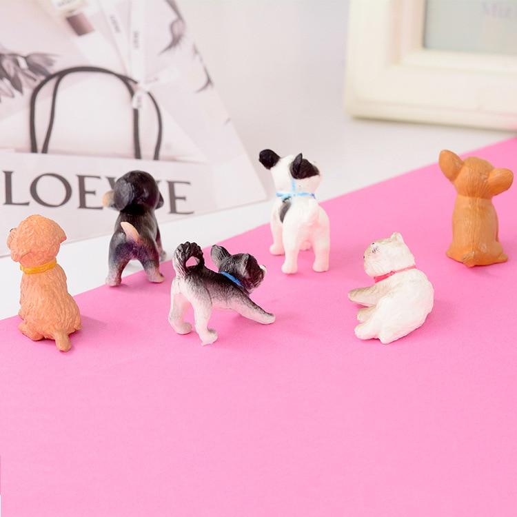 >6pcs/set 1:12 Scale Simulation Cat And Dog Dollhouse Miniature Model <font><b>Doll</b></font> <font><b>House</b></font> Decoration Gift <font><b>Dolls</b></font> <font><b>Accessories</b></font>