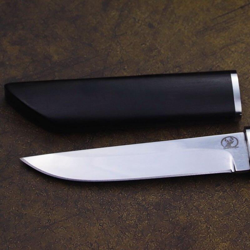 Tools : Dehong Japanese samurai D2 steel Blade Ebony sharp hunting knife high hardness jungle camping straight survival straight knife