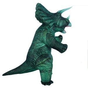 Новый надувной динозавр Т-Рекс спинозавр Птерозавр Трицератопс для взрослых Велоцираптор костюм талисман Косплей Хэллоуин для женщин и му...