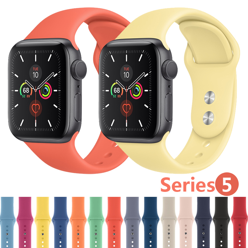 Strap For Apple Watch band 44mm 40mm iWatch 4 band 38mm 42mm Sport Silicone belt Bracelet correa Apple watch 5 4 3 2 Accessories