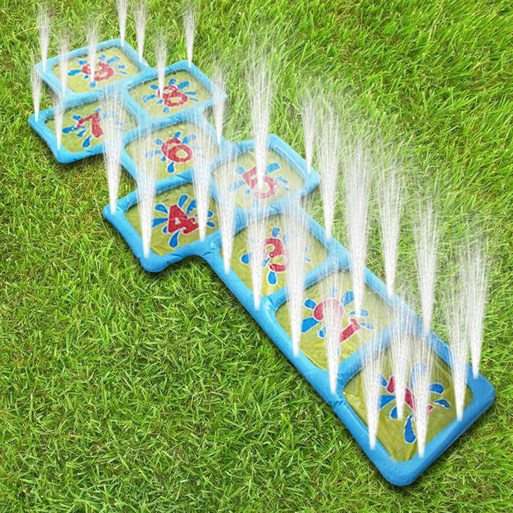 Courtyard Number Children Pool Summer Hopscotch Outdoor Game Mat Inflatable Toy Fun Splash Playing Water Sprinkler Accessories
