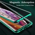 360 funda magnética completa para iPhone 11 Coque 11 Pro MAX X XS XR Metal parachoques doble vidrio templado para iPhone 8 7 6 6S Plus funda