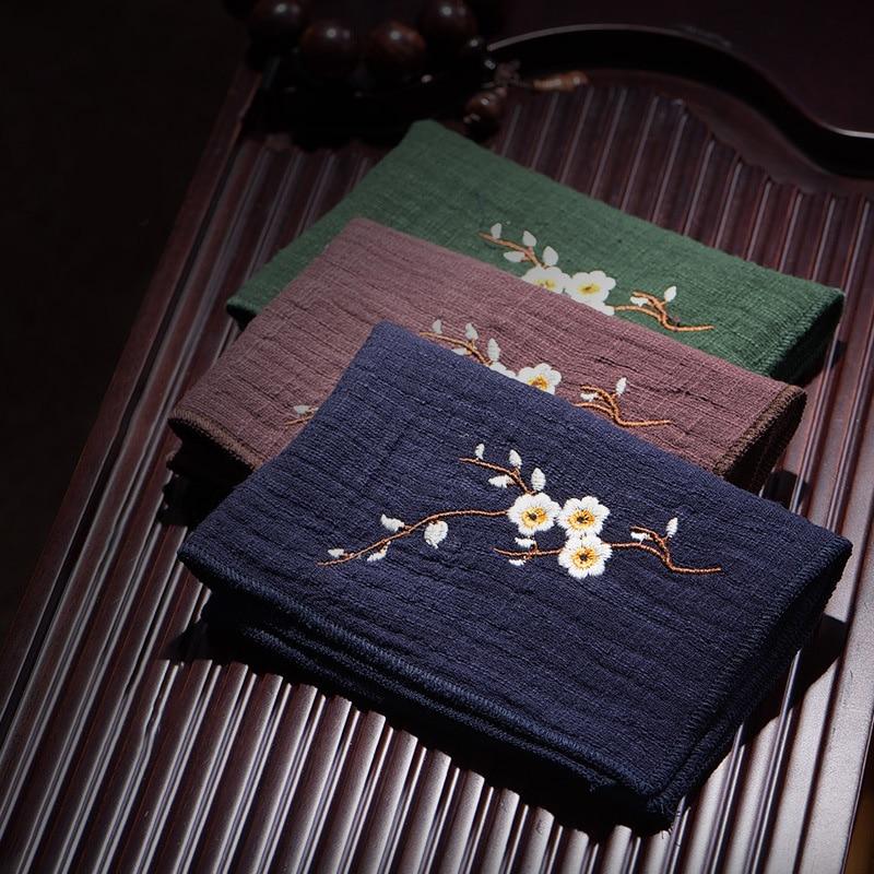 Cotton / Linen Embroidered Absorbent Cotton Tea Towel Kitchen Towel Napkin Cleaning Cloth Tea Towel Super Durable C1372 C