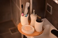 Adalis 5 Pcs Bathroom Set | Bamboo Porcelain | Home Bathroom | Made in Turkey | Free Shipping