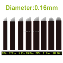 50pcs Lamina para Tebori for Permanent Makeup Microblading Needles 7/9/12/14/16/18/21/12U/14U/18U/16U Blade Eyebrow Pen